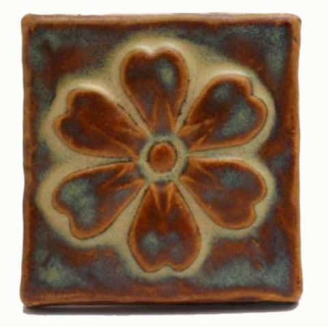 Blossom 3 Quot X3 Quot Ceramic Handmade Tile 3 Inch By 3 Inch