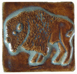 "Buffalo 2""x2"" Ceramic Handmade Tile - Autumn Glaze"