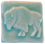 "Buffalo 2""x2"" Ceramic Handmade Tile - Pacific Blue Glaze"
