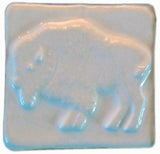 "Buffalo 2""x2"" Ceramic Handmade Tile - White Glaze"