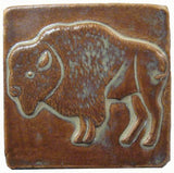 "Buffalo 4""x4"" Ceramic Handmade Tile - Autumn Glaze"