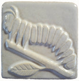 "Caterpillar 4""x4"" Ceramic Handmade Tile - white"