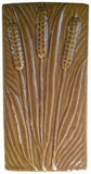 "Cattails 4""x8"" Ceramic Handmade Tile -honey Glaze"