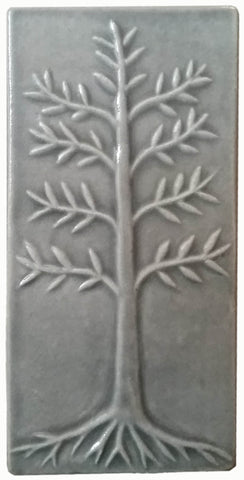 "Cypress 4""x8"" Ceramic Handmade Tile - Gray Glaze"