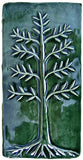 "Cypress 4""x8"" Ceramic Handmade Tile - Leaf Green Glaze"