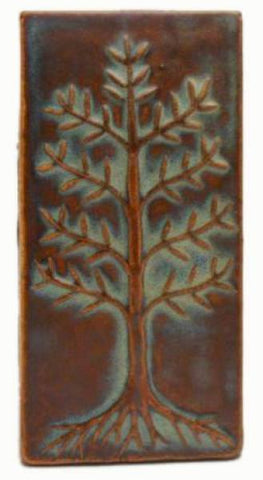 "Cypress 3""x6"" Ceramic Handmade Tile - Autumn Glaze"