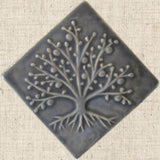 Diagonal Tree Of Life 4x4 - Gray Glaze