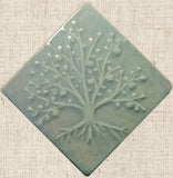 Diagonal Tree Of Life 4x4 - Celadon Glaze
