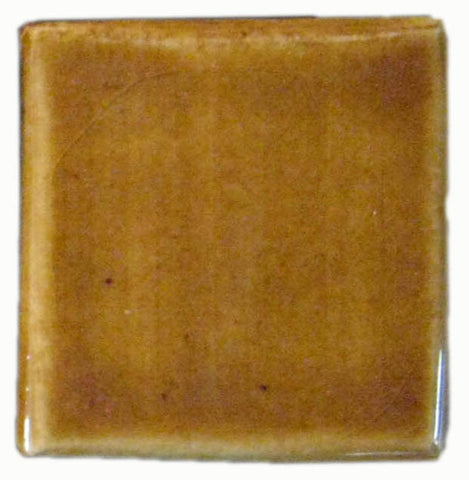 "2""x2"" Ceramic Handmade Field Tile - honey glaze"