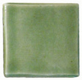 "1""x1"" Ceramic Handmade Field Tile - spearmint glaze"