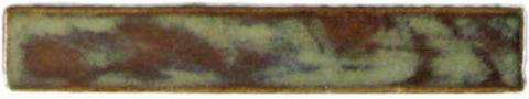 "1""x6"" Border Handmade Ceramic Field Tile - autumn glaze"