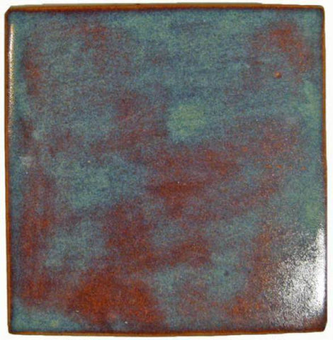 "Handmade Ceramic Field Tile 4""x4"" - Autumn Glaze"