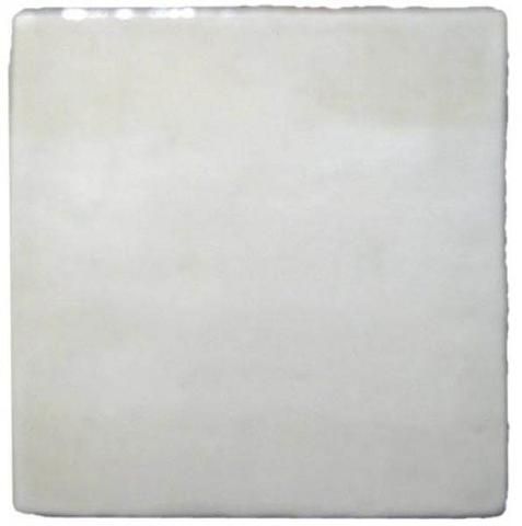 "3""x3"" Ceramic Handmade Field Tile - white glaze"