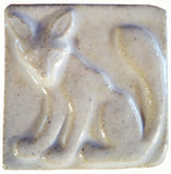 "Fox 2""x2"" Ceramic Handmade Tile - White Glaze"
