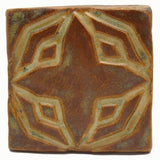 "Geometric Star 3""x3"" Ceramic Handmade Tile - Autumn Glaze"