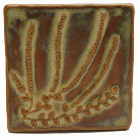 "Heather 4""x4"" Ceramic Handmade Tile"