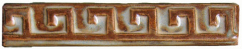 "Key 1""x6"" Border Ceramic Handmade Tile - Autumn Glaze"
