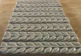 "Leaves 1""x6"" Border Ceramic Handmade Tiles - Gray Glaze Grouping"