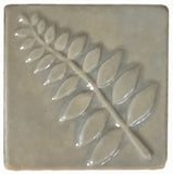 "Honey Locust 4""x4"" Ceramic Handmade Tile - Celadon"