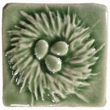 "Nest 2""x2"" Ceramic Handmade Tile - Spearmint Glaze"