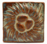 "Nest 4""x4"" Ceramic Handmade Tile - Autumn Glaze"
