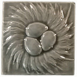 "Nest 4""x4"" Ceramic Handmade Tile - Gray Glaze"