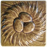 "Nest 4""x4"" Ceramic Handmade Tile - Honey Glaze"