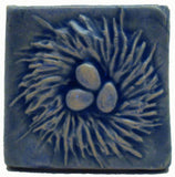 "Nest 2""x2"" Ceramic Handmade Tile - Watercolor Blue Glaze"