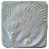 "Possum 2""x2"" Ceramic Handmade Tile - White Glaze"
