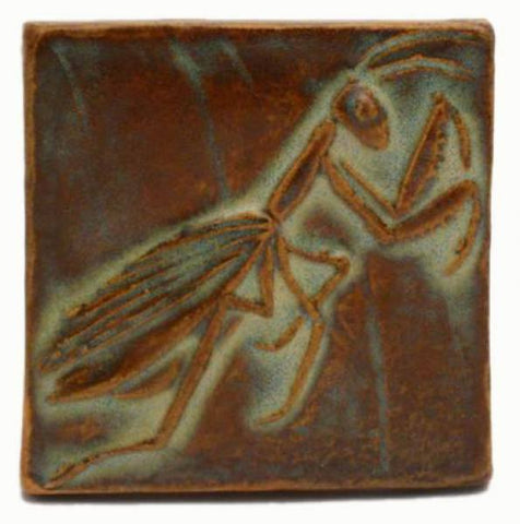 Praying Mantis 3 Quot X3 Quot Ceramic Handmade Tile Flying