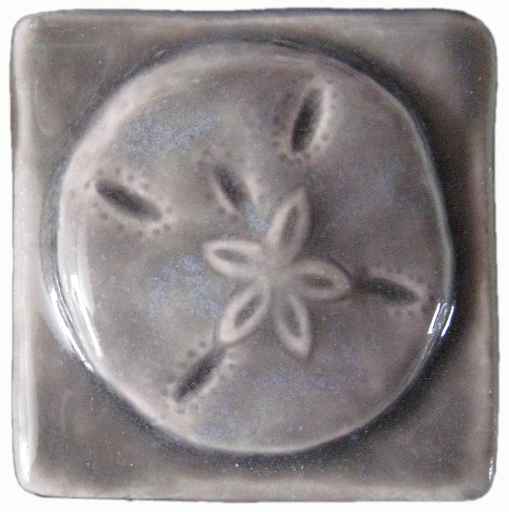 Sand dollar 2x2 ceramic handmade tile 2 inch by 2 inch sand dollar 2x2 ceramic handmade tile dailygadgetfo Gallery