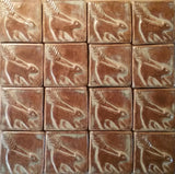 "Skunk 2""x2"" Ceramic Handmade Tile - Autumn Glaze Grouping"