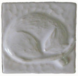 "Snoozing Cat 2""x2"" Ceramic Handmade Tile - White Glaze"