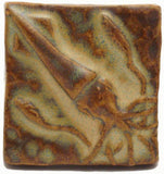 "Squid 2""x2"" Ceramic Handmade Tile - Autumn Glaze"