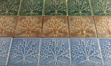 "The Tree Of Life 4""x4"" Ceramic Handmade Tile - Multicolor Grouping"