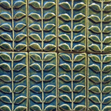 "Vine 3""x6"" Ceramic Handmade Tile - Leaf Green Grouping"