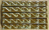 "Wave 1""x8"" Border Ceramic Handmade Tile- Autumn Glaze Grouping"