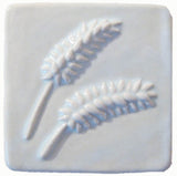 "Wheat 4""x4"" Ceramic Handmade Tile - White Glaze"