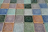 "White Pine 2""x2"" Ceramic Handmade Tile - multiple glaze grouping"