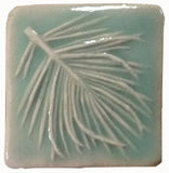 "White Pine 2""x2"" Ceramic Handmade Tile - pacific blue glaze"