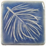 "White Pine 2""x2"" Ceramic Handmade Tile - watercolor blue glaze"