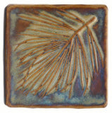 "White Pine 4""x4"" Ceramic Handmade Tile - Autumn Glaze"