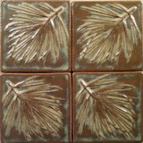 "White Pine 4""x4"" Ceramic Handmade Tile - Autumn Glaze Grouping"