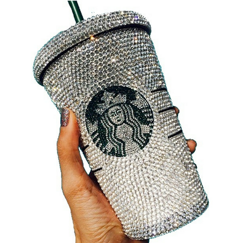 "Custom ""Starbucks Brand"" Tumbler Cup - Wristlets N' Things"