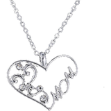 Crystal Heart Mom Pendant Necklace - Wristlets N' Things