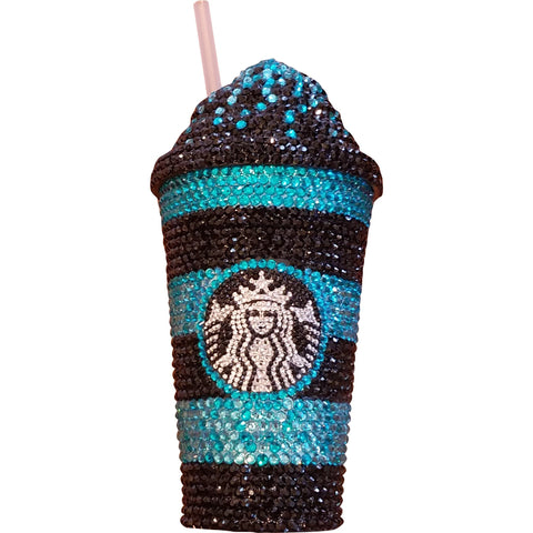 "Custom ""Starbucks Brand"" Tumbler Cold Cup - Wristlets N' Things"