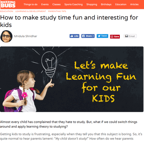 How to make study time fun and interesting for kids