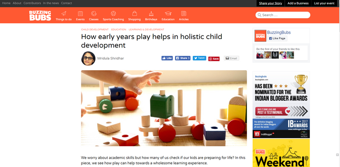 How early years play helps in holistic child development