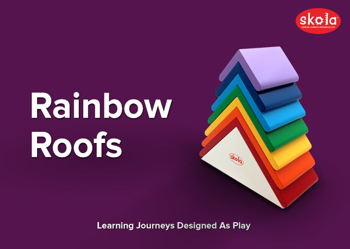 Develop Fine Motor Skills With Rainbow Roofs