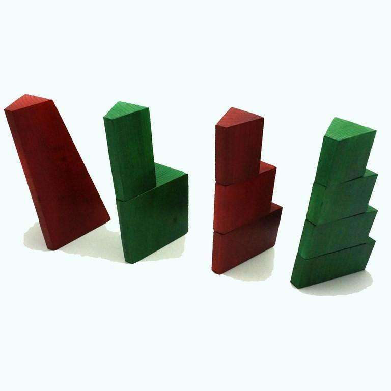 Skola Toys Step Tower 2 Colours - Stacking, Fraction, Counting